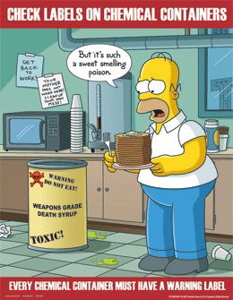 Simpsons Chemical Safety Cartoon