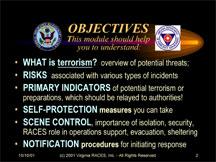 Terrorism Preparedness Information at ILPI: Training